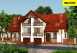 Проект одноэтажного дома с мансардой  - Муратор БЦ15